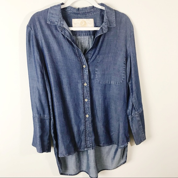 Anthropologie Tops - Anthropologie Bella Dahl Chambray Shirt